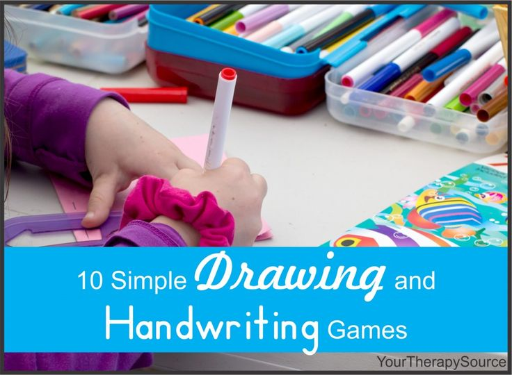 10 Simple Drawing and Handwriting Games