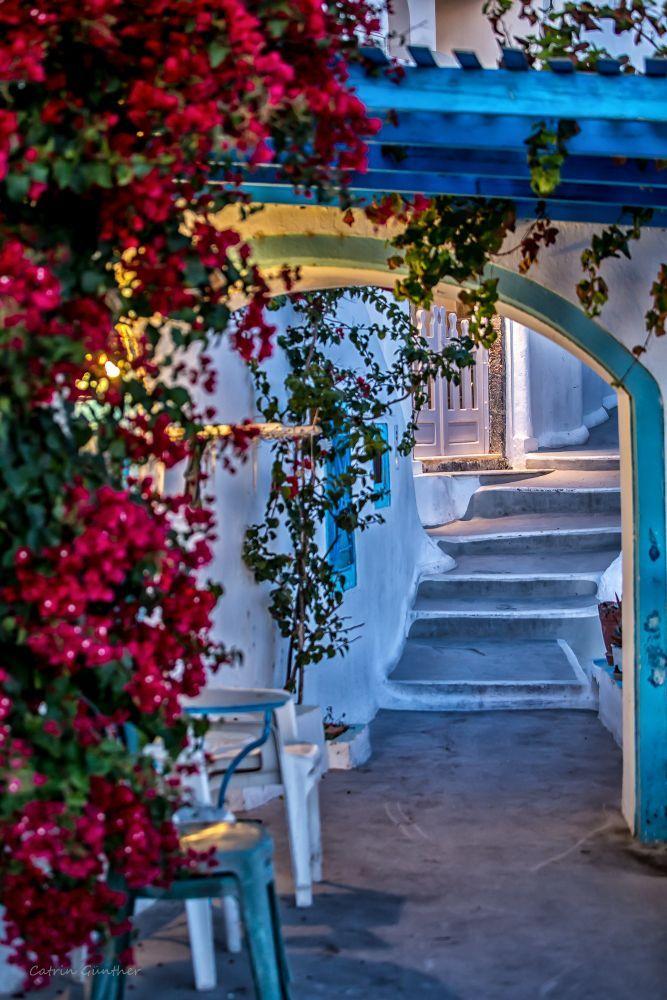 Path in Imerovigli, Santorini, Greece