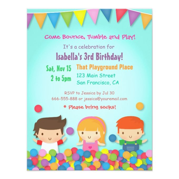 The 1390 best kids birthday invitations images on pinterest ball pit cute kids birthday party invitations filmwisefo