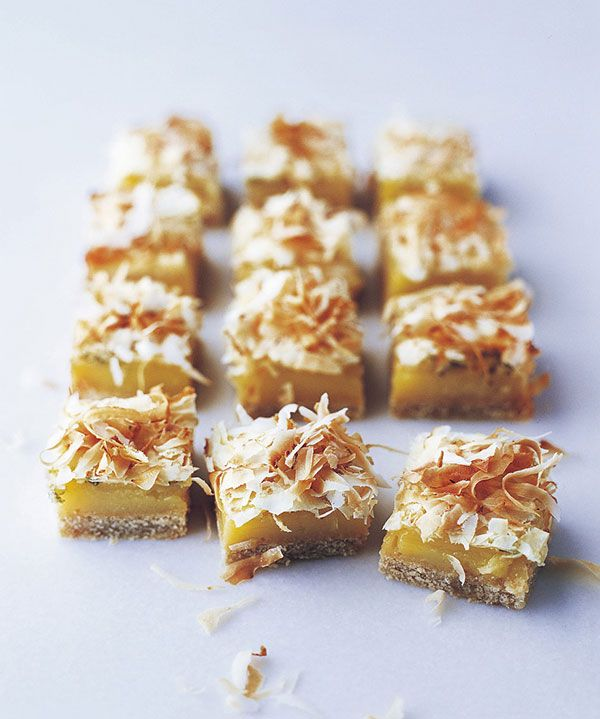 Homemade pastry is topped with an easy lime curd and coconut shavings – a taste of the tropical right here in your home!