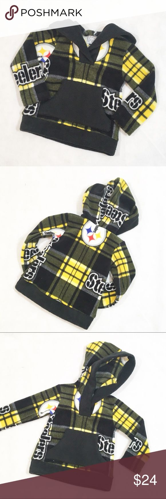Custom Handmade Steelers Hoodie Custom listing for @maxilover4526.  Fleece Steelers Hoodie.  Pre-washed fleece fabric, finished seams. Hand Made by lilpieceofattitude Shirts & Tops Sweatshirts & Hoodies