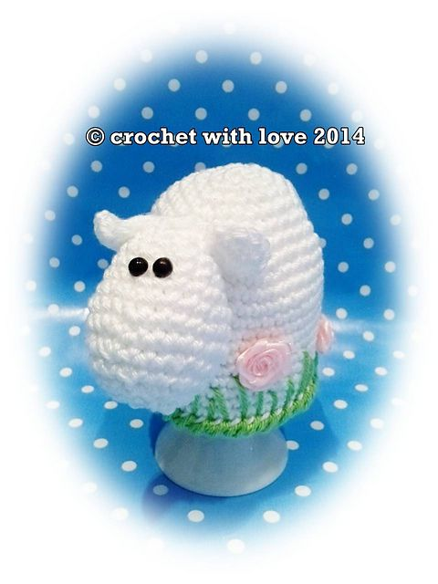 Sheep egg cozy pattern by crochet with love