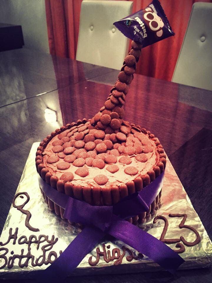 Cake Designs With Chocolate Buttons : 17 Best images about Birthday cakes on Pinterest Pinata ...
