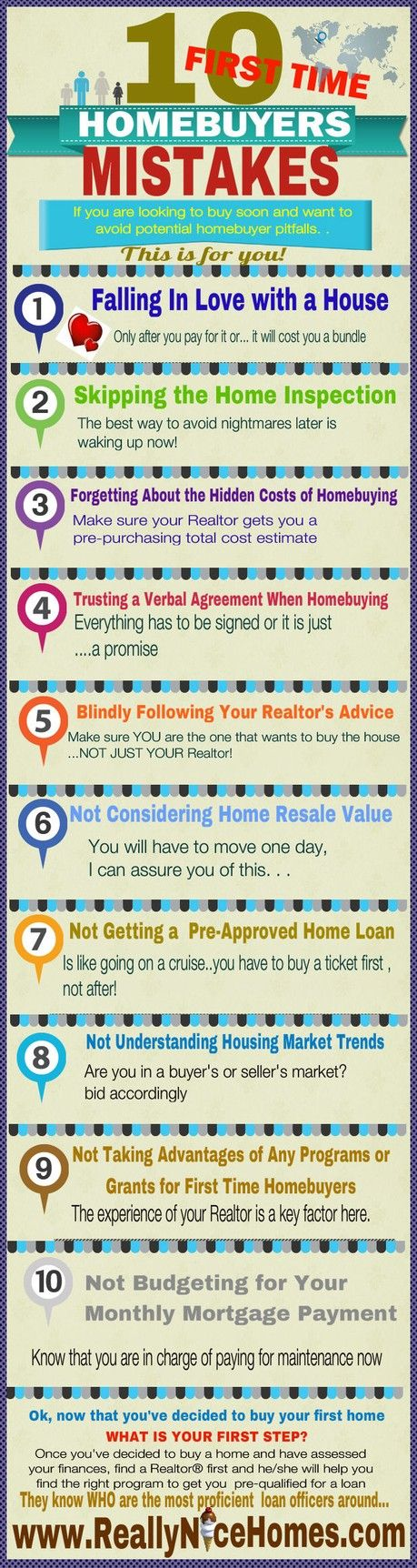 10 HUGE FIRST-TIME HOMEBUYER MISTAKES TO AVOID.