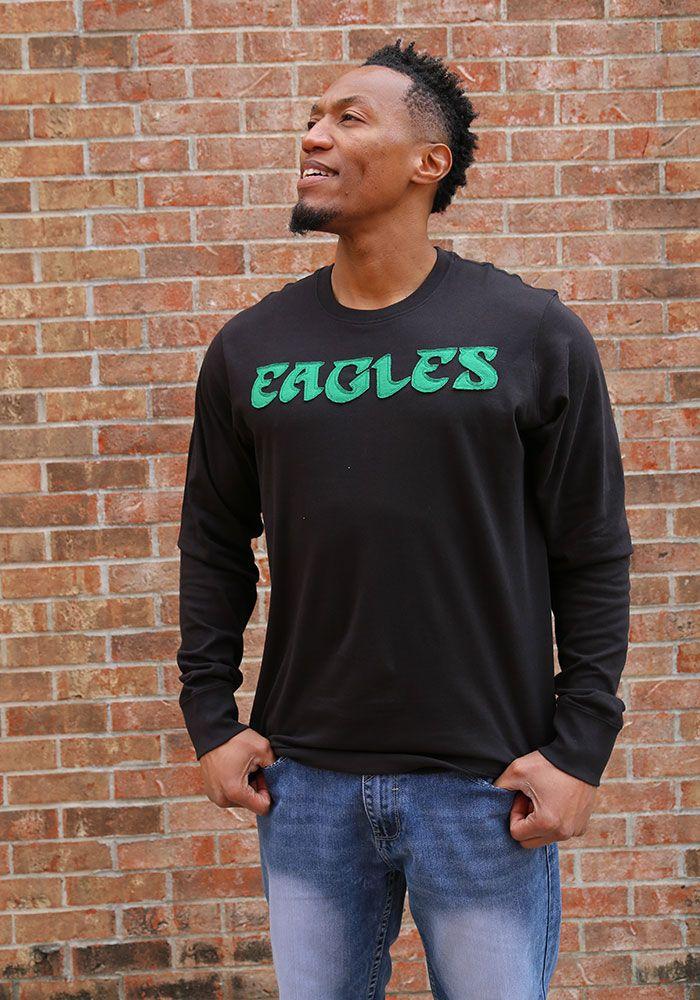 72e25d8387e 47 Philadelphia Eagles Black Fieldhouse Long Sleeve Fashion T Shirt - Image  2