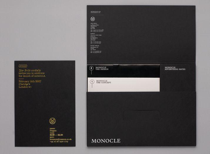 Monocle magazine launch kit invite