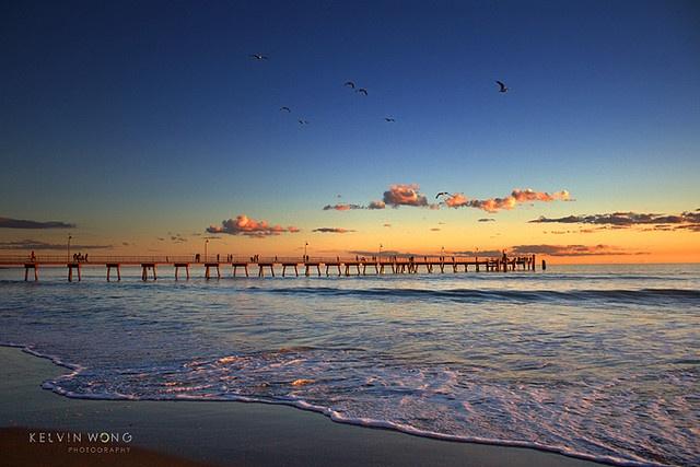 Sunset. Glenelg Beach. Adelaide, South Australia.