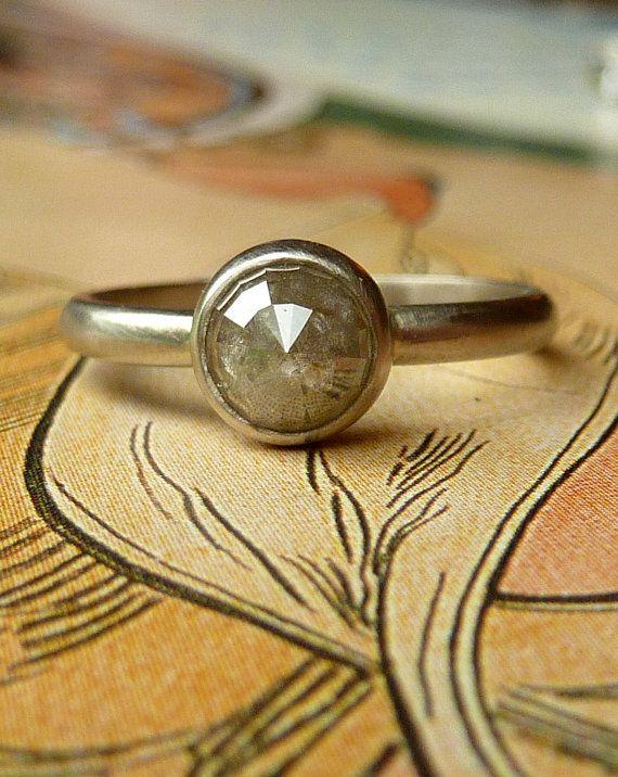 Pastel Coloured Rose Cut Diamond Ring  Deposit by kateszabone, $400.00