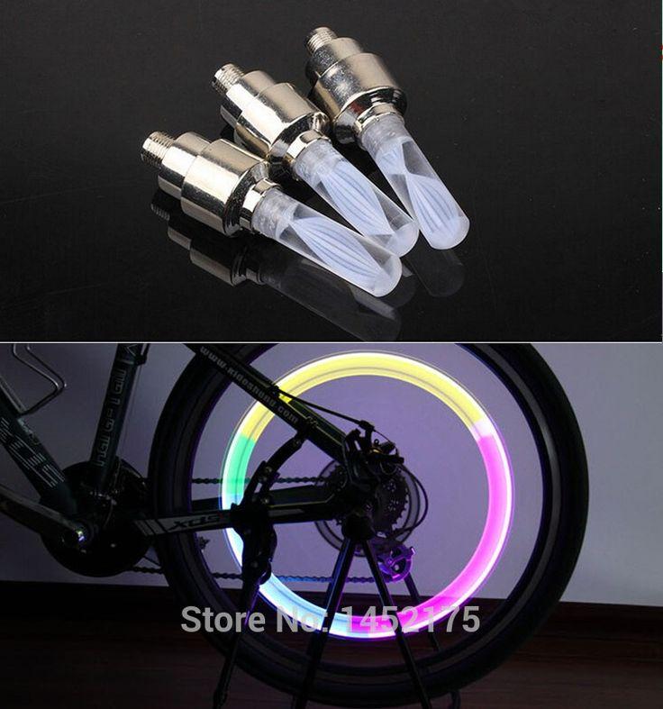 أضواء الدراجة الجبلية mtb الطريق دراجة دراجة أضواء المصابيح الإطارات الإطارات صمام قبعات عجلة المتحدث أدى ضوء 7 لون السيارات مصباح المصابيح BL07