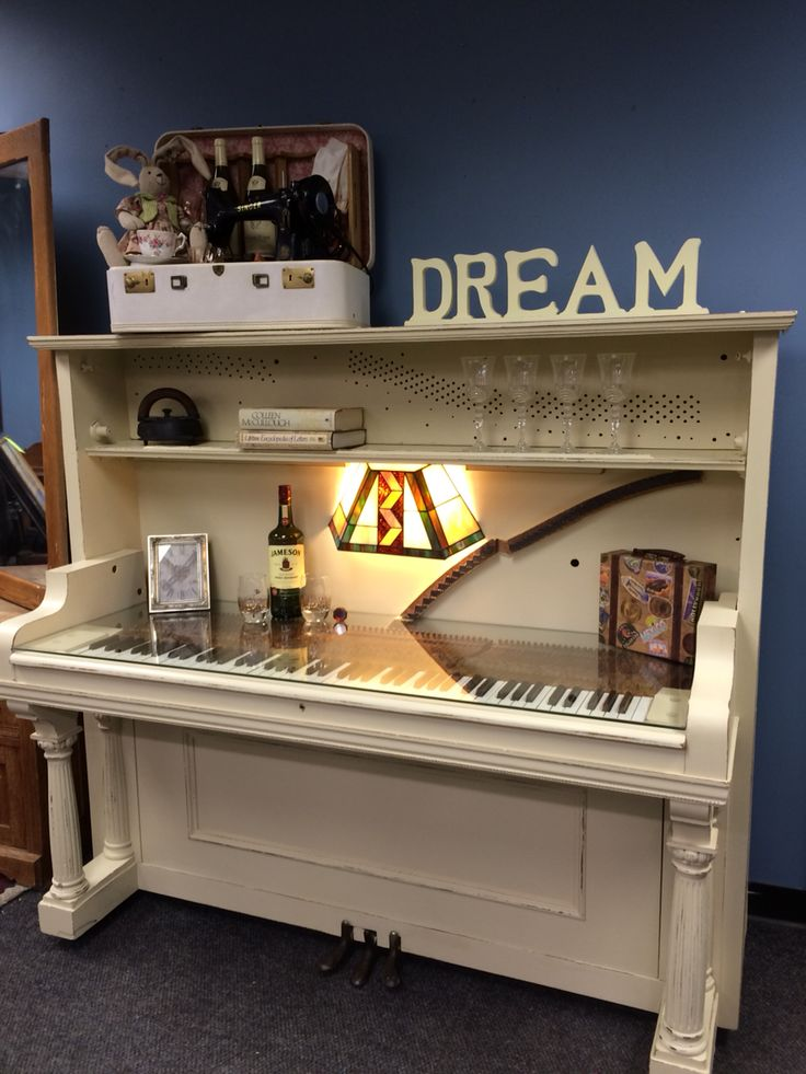 UpCycled Upright Piano now given the new life of a one of a kind desk! Repurposed by the ReStore Staff to support our mission of building Habitat Homes!