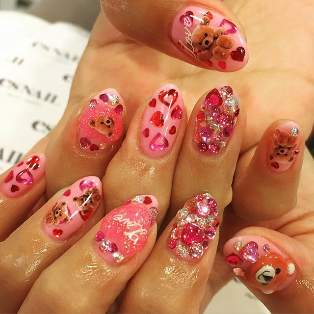 Happy Valentineu0027s Day #nail #nailart #nails #beauty #paint #gelnail  #nailstagram #cute #pretty #girl #love #japan #kawaii #LA #usa #ネイル #ネイルアート  ...