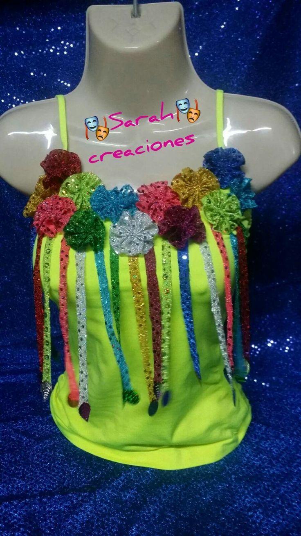 Blusas decoradas carnaval