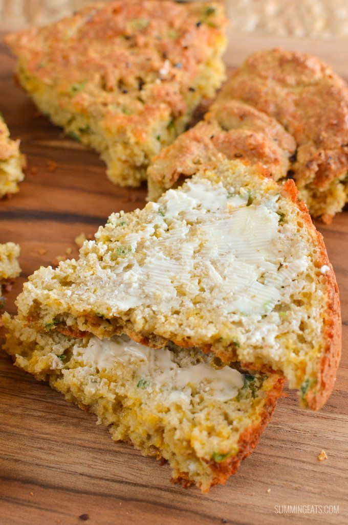 Make up a batch of this Gluten Free Cheddar Cheese Spring Onion Bread - which by the way is syn free when using your Healthy Extra's and is DELICIOUS.