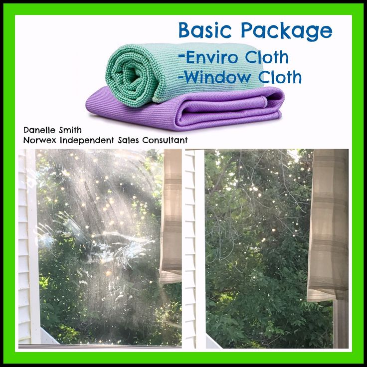 Make cleaning your windows quick and easy with the Norwex Enviro cloth and window cloth.  Click on image for more details.