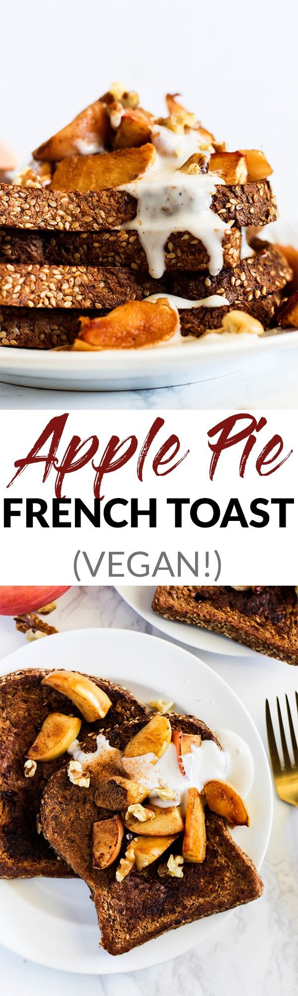 Make breakfast the most satisfying meal of the day with some Apple Pie Vegan French Toast! Simple to make, wholesome, and absolutely delicious. In partnership with @SilverHills. #ad