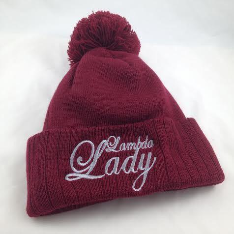 Lambda Lady Pom Beanie
