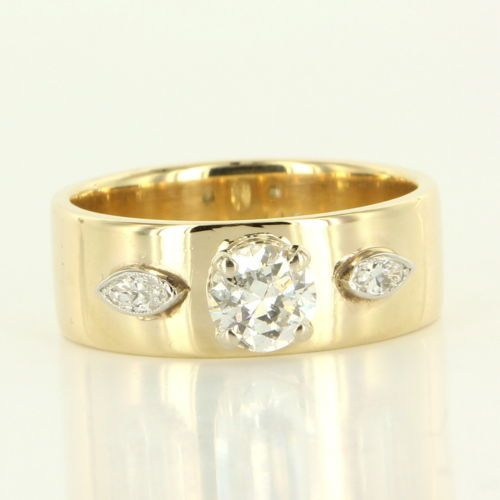 Vintage 14k Two Tone Gold Diamond Engagement or Wedding Ring Fine Bridal Jewelry | eBay