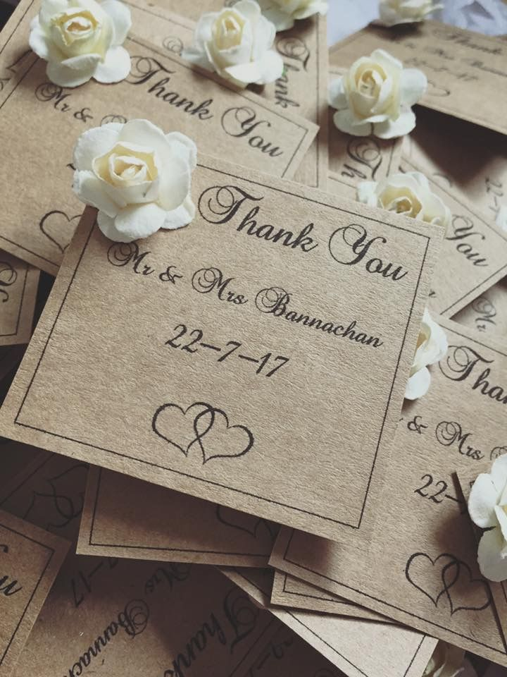 Thank you cards to complete your lolly bar