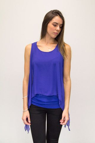 Bellini Top | #boodlesboutique #fashion #hotdeals. Layered chiffon and tulle top.