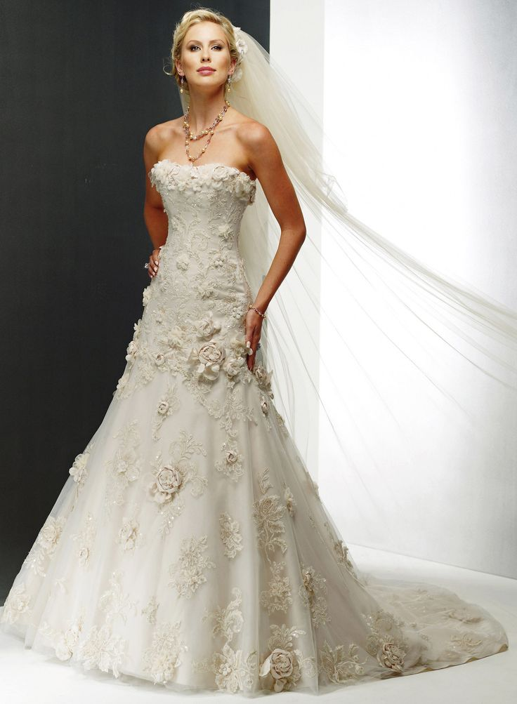 Maggie sottero rhianna royale in champagne gold for Champagne gold wedding dress