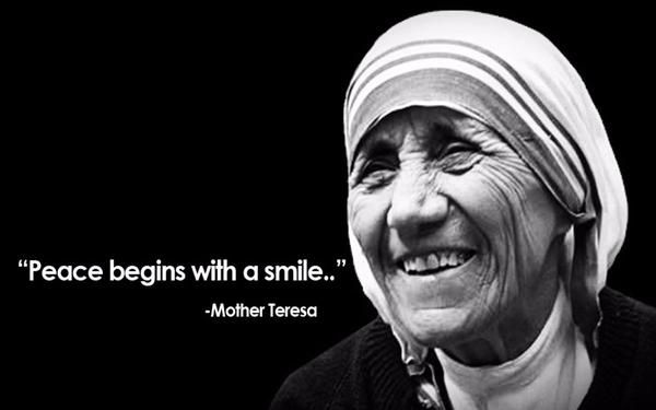 100 Most Famou Mother Teresa Quote Saying Of All Time Smile Biography Essay Biographical Short