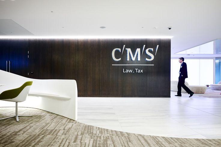 'CMS', London- KKS Strategy, Elliott Wood Partnership, ISG, TMJ Interiors, Medite, Dealerward, Modus