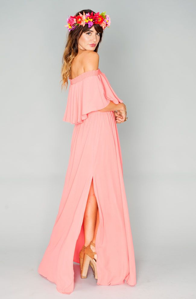 Show Me Your Mumu bridesmaid collection -- love this coral dress!