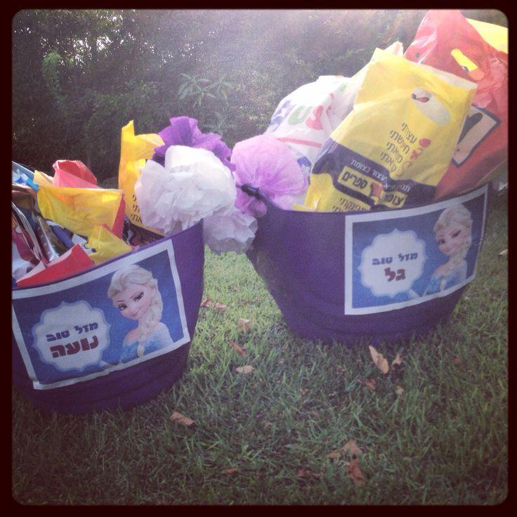 Frozen gift basket full