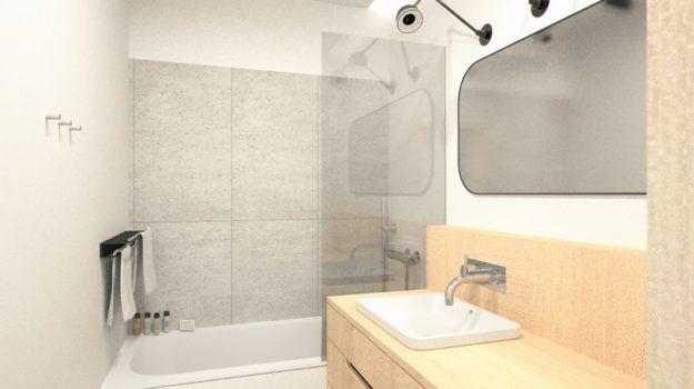 Návrh kúpeľne, var. 02 - interiér Banšelova, Bratislava - Interiérový dizajn / Bathroom interior by Archilab