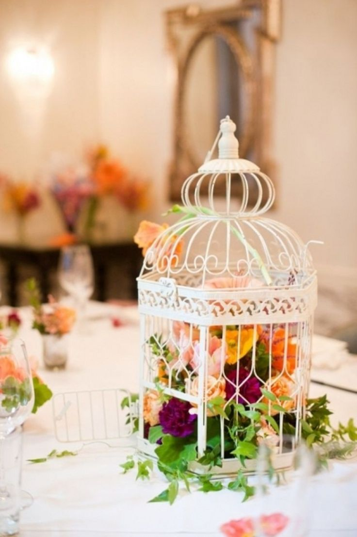 Best birdcage centerpiece wedding ideas on pinterest
