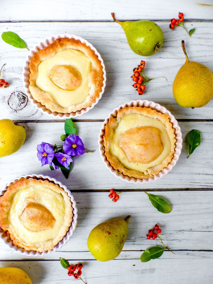 Tarte amandine poires, amandes et gingembre. #vegan #almonds #ginger https://amandebasilic.com/tarte-amandine-poires-gingembre-vegan/