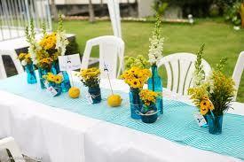 decoração de casamento amarelo com azul - Pesquisa Google