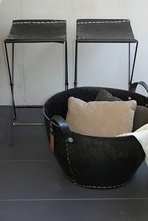 Tade Pays Du Levant recycled tire collection.  Love the stools too.