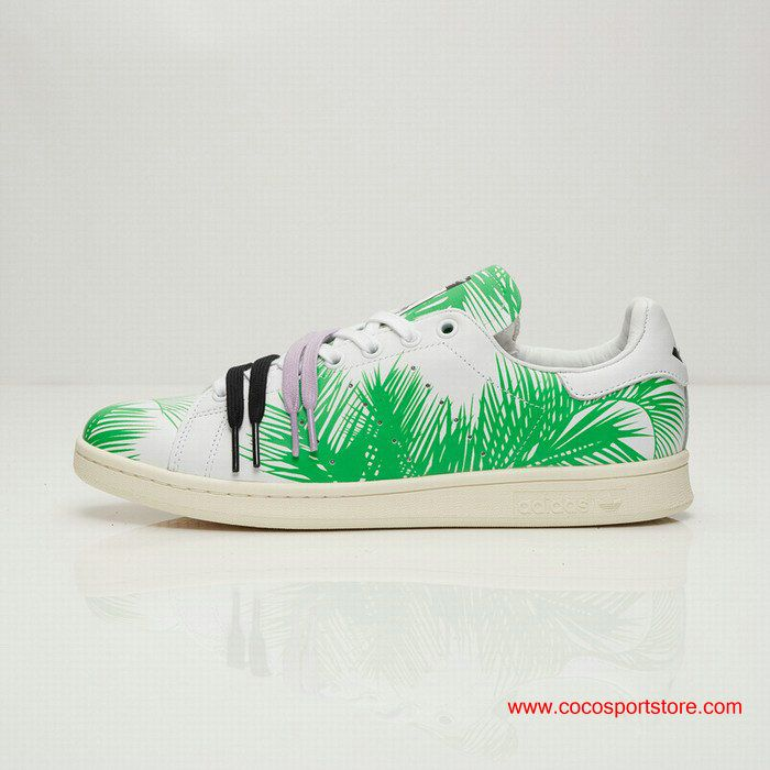 adidas PW STAN SMITH BBC PALM Leaves Green White Shoes For Women