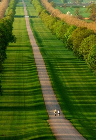 """A Walk Through The Park"" Windsor Great Park, Berkshire, this is the road that leads to Windsor Castle, photo by Jack Hood"