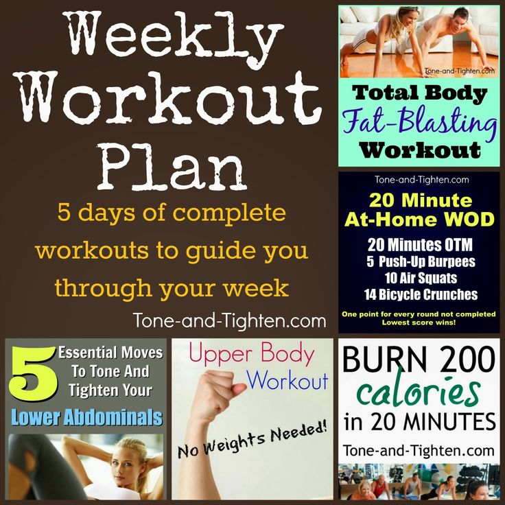 Best 25+ Weekly workouts ideas on Pinterest Week workout, One - weekly exercise plans