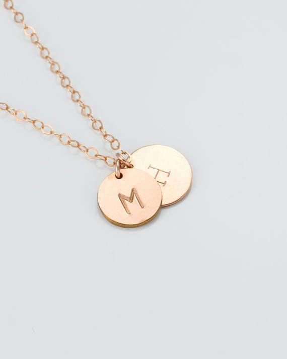 Dainty coin necklace,Rose gold,Silver,14K Gold fill,Gold coin necklace,Rose gold choker,Circle necklace,Minimalist necklace,Gift,NCCDGF