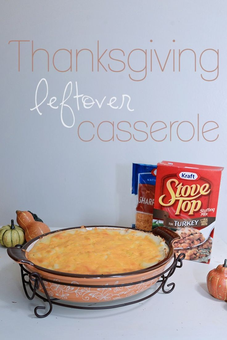 Need something to do with all those leftovers? Try this Thanksgiving Leftover Casserole. Puts a new twist on Thanksgiving leftovers. | by Sarah Halstead #TasteTheSeason #ad