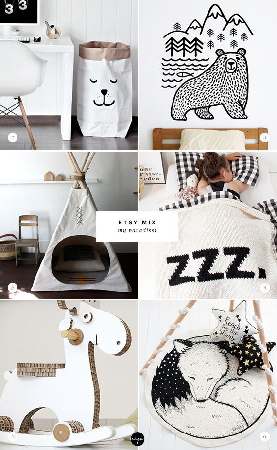 ETSY MIX of the week (for a cool kids room)