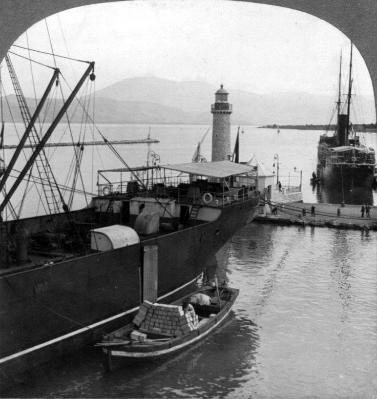 Πάτρα, 11 Ιουλίου 1910, άποψη του λιμανιού.