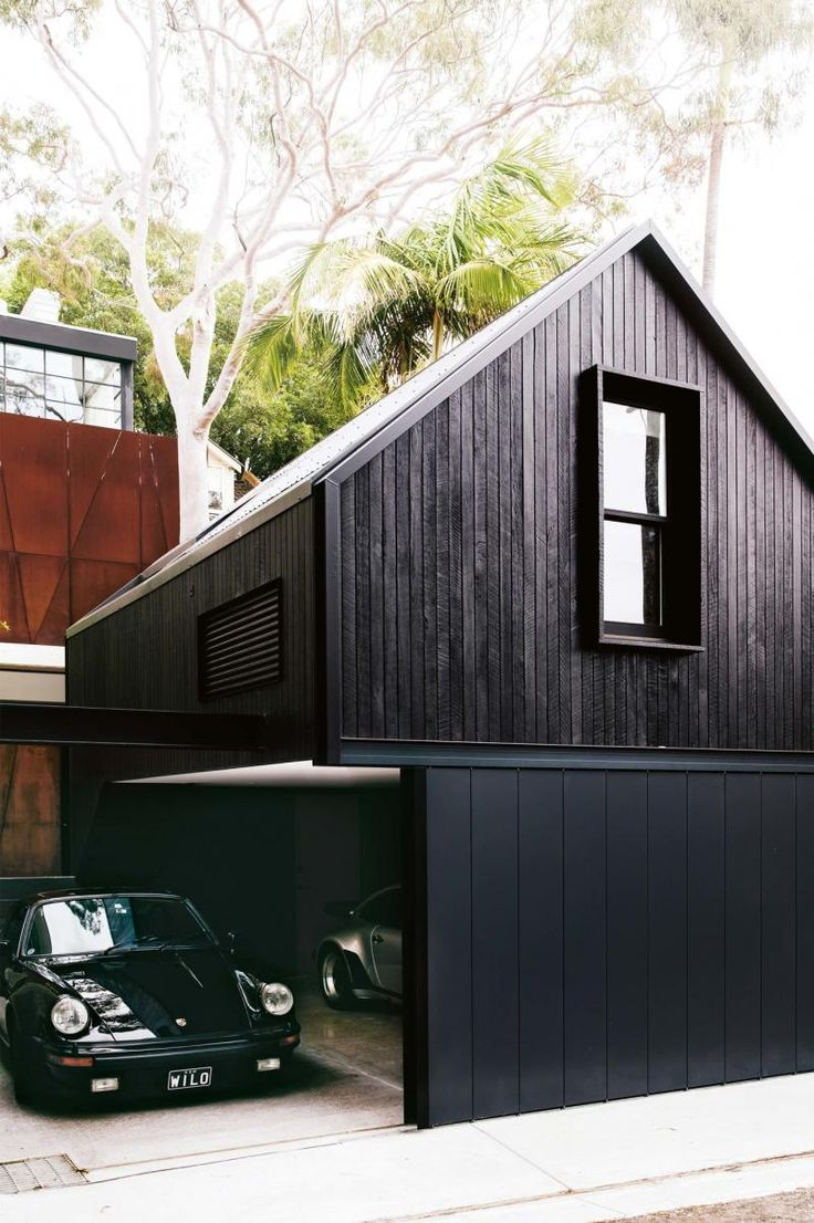 Inside Out - September 2017 - black stained exterior garage and loft