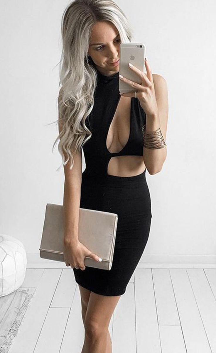 $24.99 Asymmetric Cutout Sexy Mini Club Dress