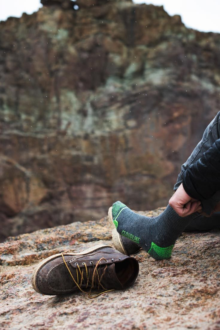 0534fd9fcd796 A thru-hiker favorite the CloudLine light hiking socks provide a balanced  blend of cushion, support, and breathability. #hiking #backpacking #socks #  ...