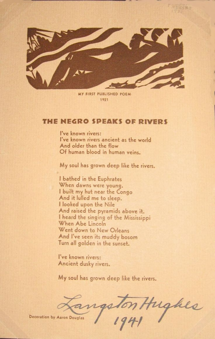 an analysis on the poem theme for english b by langston hughes that talks about the african american Langston hughes was born on february 1, 1902 in joplin, missouri he was an only child whose parents divorced when he was a small child, and his father left for mexico because his mother needed to travel a lot to look for work, he was raised by his grandmother until the age of 13.
