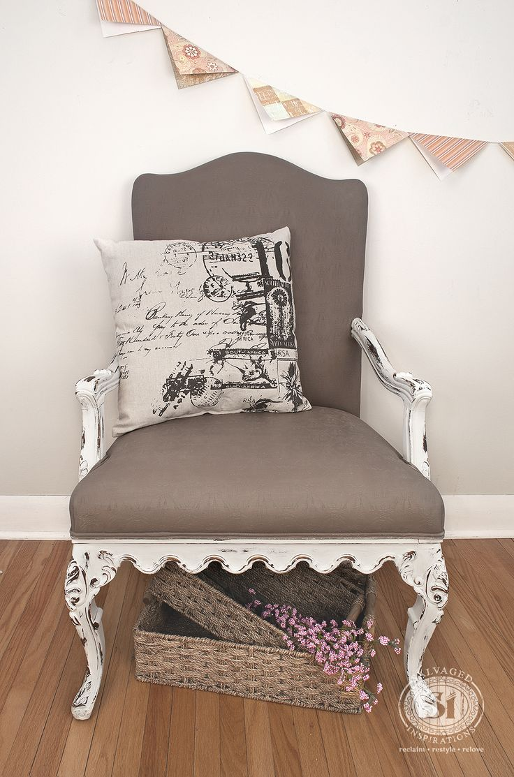 Chair antique queen anne chair the buzz on antiques antique chairs 101 - General Finishes Chalk Style Painted Fabric Chair Cardomom Brown Bone White Salvaged Inspirations