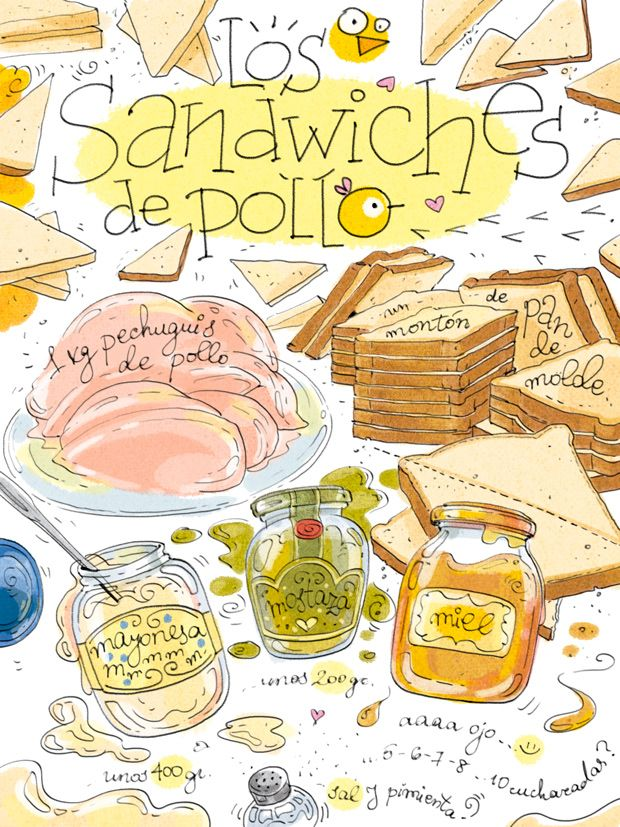 Cartoon Cooking: LOS Sandwiches de pollo