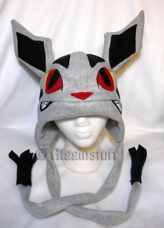 Pokemon Inspired Mightyena Fleece Hat Made To Order By