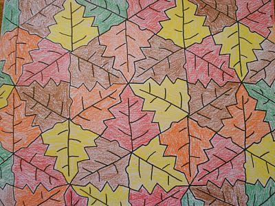 leaf Tessellation Coloring Sheet