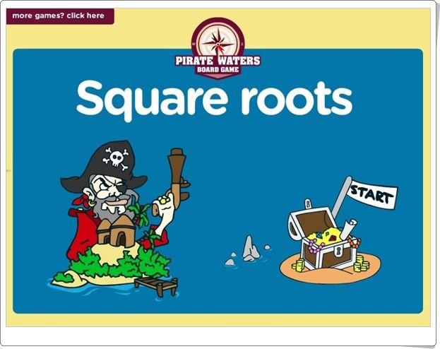 "Pirate Waters: ""Raices cuadradas"" (Math4childrenplus.com)"