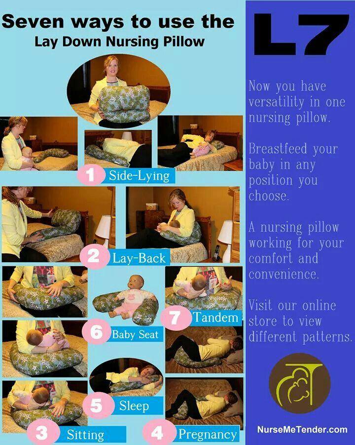Seven ways you can use the L7 Lay Down Nursing Pillow by Nurse Me Tender. www.nursemetender.com